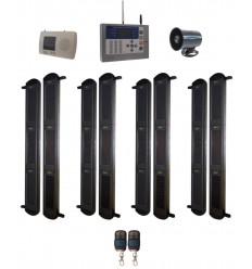 3B-100 Lichtschranken Kit mit KP-HD GSM Zentrale und kabelgebundene Sirene
