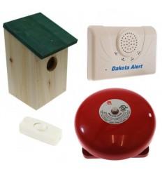 Dakota Alarm mit Vogelhaus für den PIR und Glocke