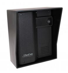 Türstation (ohne Tastatur) Funk-Gegensprechanlage mit schwarzem Außengehäuse
