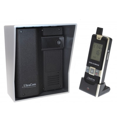 600-m-Funk-Gegensprechanlage Ultracom mit silberfarbenem Außengehäuse (ohne Tastatur)