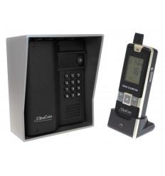Funk-Gegensprechanlage Ultracom mit 600m Reichweite (mit Tastatur) mit silberfarbenem Außengehäuse