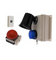 Kabellose Verriegelung mit langer Reichweite 118 Dezibel-Sirene und blinkender Blitz-Panikalarm