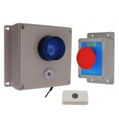 Drahtloser Alarm mit Sperrfunktion,  ausschaltbarer Sirene, blinkender LED, Sperrtaste & drahtlosem Reset