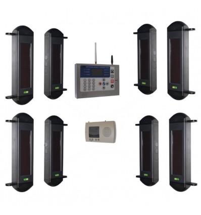 1B Set drahtloses System mit solarbetriebenen Lichtschranken & GSM-Wählgerät
