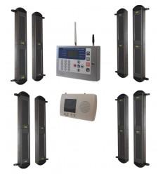 2B drahtloses System mit solarbetriebener Lichtschranke & KP GSM-Wählgerät