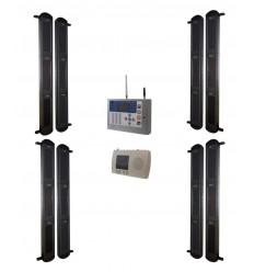 3B drahtloses System mit solarbetriebener Lichtschranke & KP GSM-Wählgerät