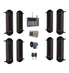 1B-100 drahtlose Lichtschranken , KP-HD GSM Wahlgerät & kabelgebundene Sirene
