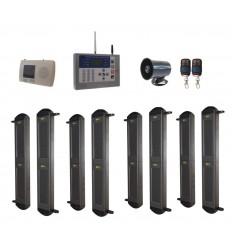 2B-100 Lichtschranken Kit, H/D GSM Wahlgerät & Kabelgebundene Sirene