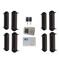 1B-100 Solar drahtloser Lichtschranken Alarm & KP9 2G GSM System