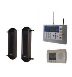 1B drahtloses System mit solarbetriebener Lichtschranke & KP GSM-Wählgerät