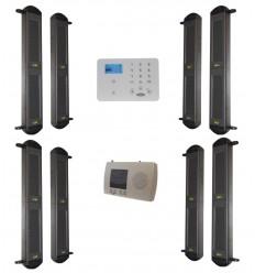 2B-100 SOLAR DRAHTLOSER LICHTSCHRANKEN ALARM & KP9 3G GSM SYSTEM