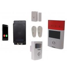 ULTRADIAL 3G GSM MIT 1X TÜR/FENSTER ALARM, 1 X BT PIR 1X AUSSENSIRENE 1 X FERNBEDIENUNG