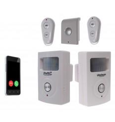 2-Raum UltraPIR 3G GSM Alarmsystem mit zusätzlicher Sirene