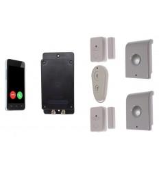 UltraDIAL 3G GSM mit 2x Tür/Fenster Alarm und 2 x innen Sirenen