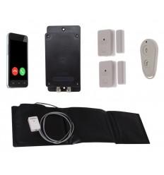 Batteriebetriebener diskreter 3G GSM ULTRADIAL TÜR- UND DRUCKMATTENALARM