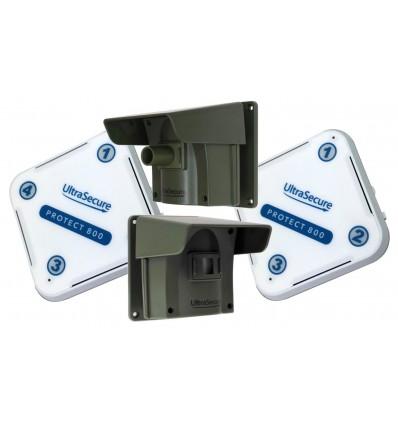Protect 800 mit 2 x Empfänger und 2 x PIR's mit Kappe