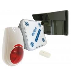 Protect 800 (mit verschiedenen Deckeln) und drahtloser Sirene