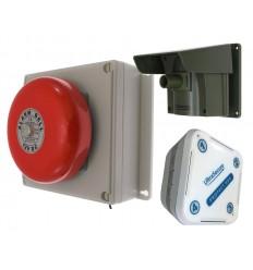 PROTECT 800 MIT AUSSENKLINGELEMPFÄNGER UND PIR (MIT MEHREREN DECKELN) &  1 Innen Empfänger