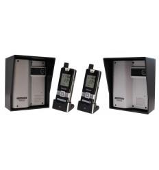 2 X ULTRACOM 2 - 600 m Funk-Gegensprechanlage mit schwarzem Außengehäuse (ohne Tastatur) & 2 X Handgerät