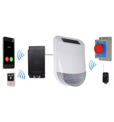 Drahtlose HY Sirene SOS,  Panikalarm und GSM Wahlgerät