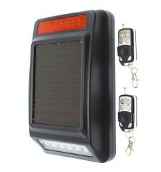 Solarbetriebene Sirene mit Blitzlicht & Empfänger