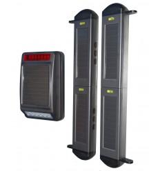 2B Lichtschranke mit Solarbetriebener drahtloser Aussensirene
