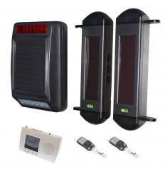 1B Lichtschranken mit 4 Kanal Empfänger und drahtloser Sirene